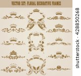 set of gold monograms for... | Shutterstock .eps vector #428850268