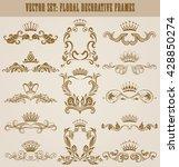 set of gold monograms for... | Shutterstock .eps vector #428850274