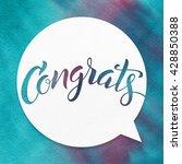 congrats. lettering on... | Shutterstock . vector #428850388