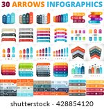 Vector up arrows infographic, diagram, graph, presentation, competition chart. Business performance concept with 3, 4, 5, 6, 8 options, parts, steps, processes. Infographics growth data pedestal. | Shutterstock vector #428854120