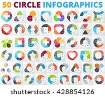 vector circle infographic set.... | Shutterstock .eps vector #428854126