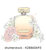Perfume Bottle And Flowers....