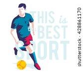football or soccer player... | Shutterstock .eps vector #428861170