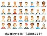 set of avatar icons. | Shutterstock .eps vector #428861959