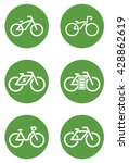 6 bicycle  ecobike  ecology... | Shutterstock .eps vector #428862619