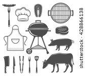 bbq decorative graphic flat... | Shutterstock .eps vector #428866138