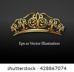 golden crown  vector | Shutterstock .eps vector #428867074