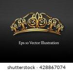 golden crown  vector | Shutterstock .eps vector #428867074