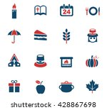 thanksgiving day web icons for... | Shutterstock .eps vector #428867698