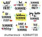 summer lettering scandinavian... | Shutterstock .eps vector #428869720