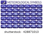 set of different weather icons  ... | Shutterstock .eps vector #428871013