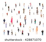 corporate teamwork team over... | Shutterstock . vector #428871070