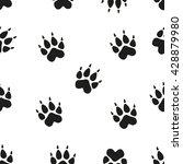 animal footprint seamless...   Shutterstock .eps vector #428879980