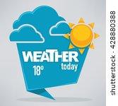 vector cartoon weather forecast ...   Shutterstock .eps vector #428880388