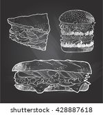 illustration of sandwich burger ... | Shutterstock .eps vector #428887618