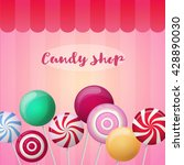vector pattern with candies.... | Shutterstock .eps vector #428890030
