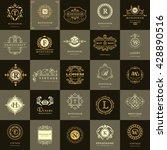 line graphics monogram. vintage ... | Shutterstock .eps vector #428890516