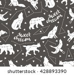 seamless pattern with star... | Shutterstock .eps vector #428893390