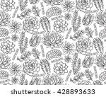 vector seamless pattern with... | Shutterstock .eps vector #428893633