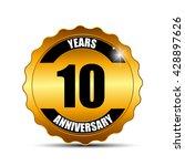 anniversary gild label sign...   Shutterstock .eps vector #428897626
