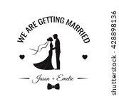 wedding invitation. vector... | Shutterstock .eps vector #428898136