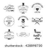 happy father day vintage labels ... | Shutterstock .eps vector #428898730