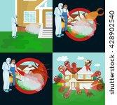 pest control illustration set ... | Shutterstock .eps vector #428902540