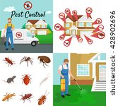 pest control illustration set ... | Shutterstock .eps vector #428902696
