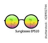 round sunglasses | Shutterstock .eps vector #428902744