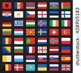 europe flags. vector icons set. | Shutterstock .eps vector #428905183