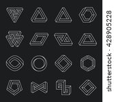 set of impossible shapes.... | Shutterstock .eps vector #428905228