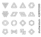 set of impossible shapes.... | Shutterstock .eps vector #428905300