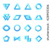 set of impossible shapes.... | Shutterstock .eps vector #428905306