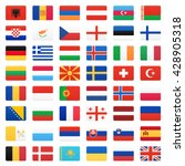 europe flags. vector icons set. | Shutterstock .eps vector #428905318