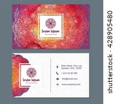 visiting card  business card... | Shutterstock .eps vector #428905480