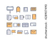 vector icons of print design... | Shutterstock .eps vector #428907490