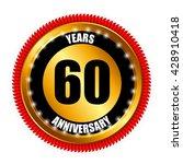anniversary gild label sign... | Shutterstock .eps vector #428910418