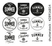 summer holidays design elements ... | Shutterstock .eps vector #428916814