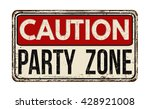party zone vintage rusty metal... | Shutterstock .eps vector #428921008
