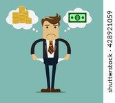 businessman has no money vector ...   Shutterstock .eps vector #428921059