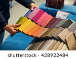 choosing a fabric color | Shutterstock . vector #428922484