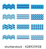 marine  sea  ocean waves vector ... | Shutterstock .eps vector #428925928