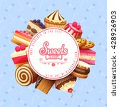 cupcakes pastry and sweets flat ... | Shutterstock .eps vector #428926903