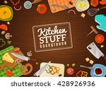 cooking background with... | Shutterstock .eps vector #428926936