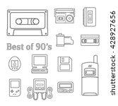 gadget of 90s  icon    Shutterstock .eps vector #428927656