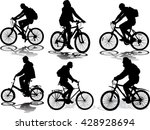 set of 6 silhouettes of the... | Shutterstock .eps vector #428928694