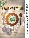 healthy eating vegetarian... | Shutterstock . vector #428929408
