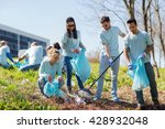 volunteering  charity  cleaning ... | Shutterstock . vector #428932048