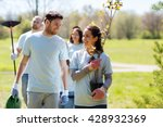 volunteering  charity  people... | Shutterstock . vector #428932369