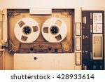 vintage audio tape compact... | Shutterstock . vector #428933614